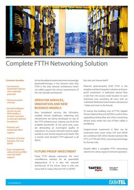 IskraTEL Complete FTTH Networking